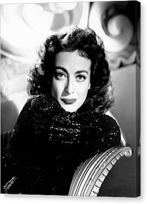 1940s Hairstyles Canvas Print - Joan Crawford, Ca. Early 1940s by Everett