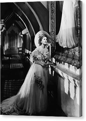 Joan Fontaine In Rebecca  Canvas Print