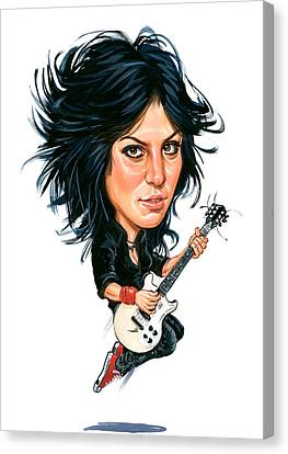 Caricature Canvas Print - Joan Jett by Art