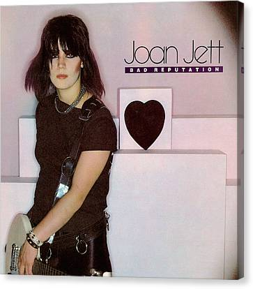 Joan Jett - Bad Reputation 1981 Canvas Print by Epic Rights