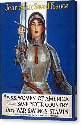 Joan Of Arc Saved France Canvas Print by William Haskell Coffin
