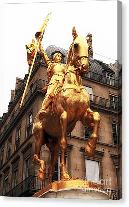 Joan Of Arc Statue Canvas Print by John Rizzuto