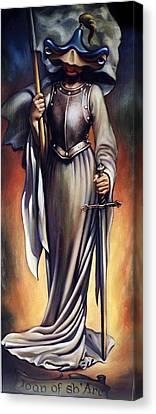 Joan Of Sharc Canvas Print