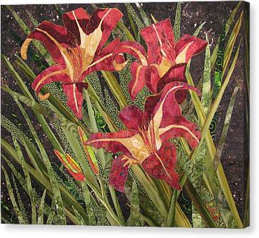 Joan's Daylilies Canvas Print by Lynda K Boardman