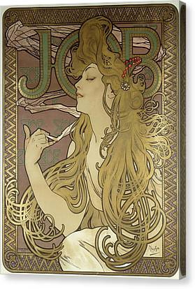 Job, 1896 Colour Lithograph On Poster Paper, Framed Canvas Print by Alphonse Marie Mucha