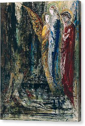 Test Canvas Print - Job And The Angels by Gustave Moreau