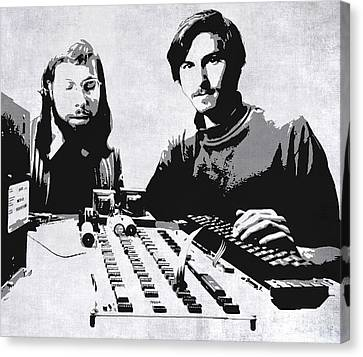 Jobs And Wozniak . . . In The Early Days  Canvas Print by Daniel Hagerman