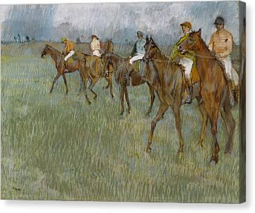 Degas Canvas Print - Jockeys In The Rain, 1886 by Edgar Degas