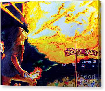 Joe At The Broken Spoke Saloon Canvas Print