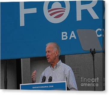 Joe Biden Canvas Print by Lisa Gifford