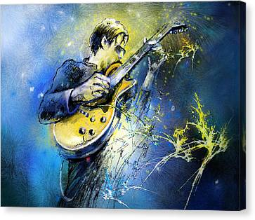 Joe Bonamassa 01 Canvas Print by Miki De Goodaboom
