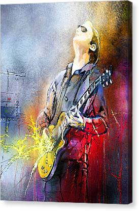 Joe Bonamassa 02 Canvas Print by Miki De Goodaboom