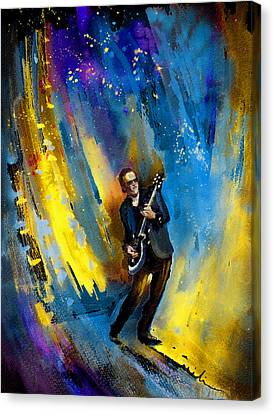 Joe Bonamassa 03 Canvas Print by Miki De Goodaboom