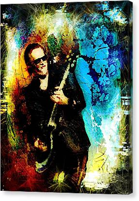 Joe Bonamassa Madness Canvas Print by Miki De Goodaboom