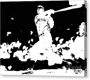 Joe Dimaggio Drawing Canvas Print