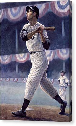 Joe Dimaggio Canvas Print by Gregory Perillo