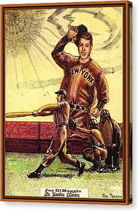 Joe Dimaggio Yankee Clipper Canvas Print