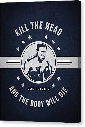 Joe Frazier - Navy Blue Canvas Print by Aged Pixel