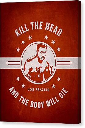 Joe Frazier - Red Canvas Print by Aged Pixel