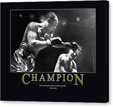 Joe Louis Champion  Canvas Print by Retro Images Archive