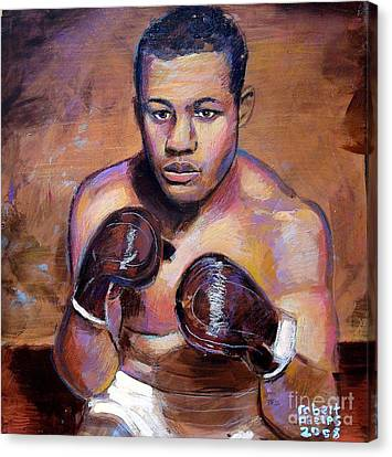 Canvas Print featuring the painting Joe Louis by Robert Phelps