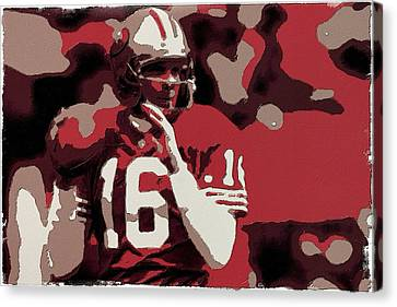 Joe Montana Poster Art Canvas Print by Florian Rodarte