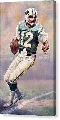 Joe Namath Canvas Print by Gregory Perillo