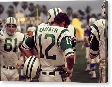 Joe Namath On Sideline Canvas Print