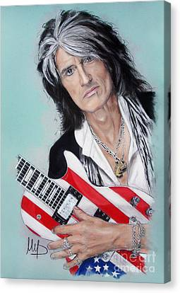 Aerosmith Canvas Print - Joe Perry by Melanie D