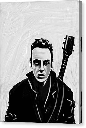 Canvas Print featuring the painting Joe Strummer by Jeff DOttavio