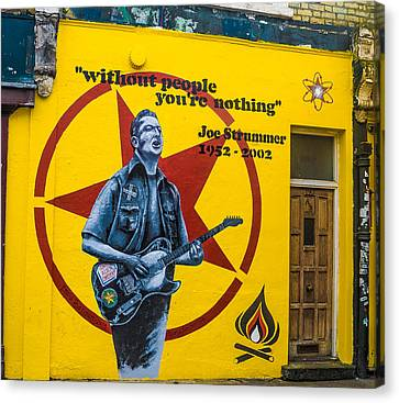 Joe Strummer Without People You're Nothing Canvas Print by Georgina Noronha