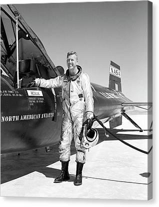 North American Aviation Canvas Print - Joe Walker As X-15 Test Pilot by Nasa