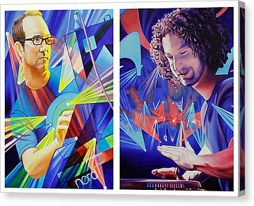 Joel And Andy Canvas Print by Joshua Morton