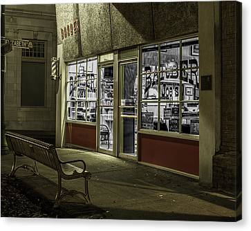Joe's Barber Shop Canvas Print by Bill Gallagher