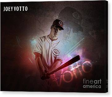 Joey Votto Canvas Print by Marvin Blaine