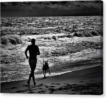 Joggin Wit Dad Canvas Print by Robert McCubbin