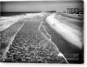 Jogging At Folly Beach Canvas Print by John Rizzuto