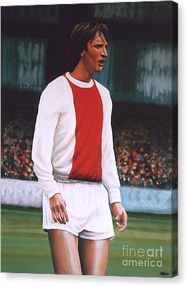 Johan Cruijff  Canvas Print by Paul Meijering