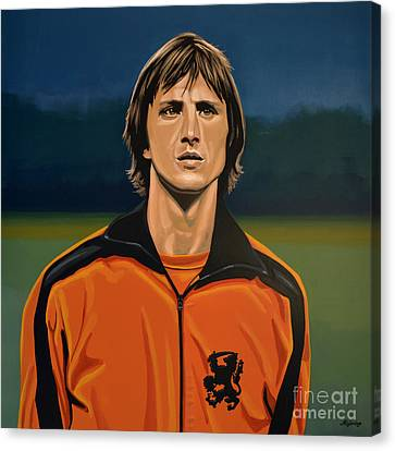 Johan Cruyff Oranje Canvas Print by Paul Meijering