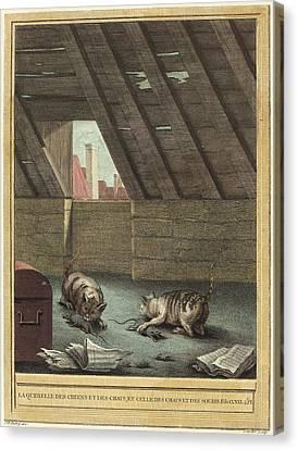 Johann Christoph Teucher After Jean-baptiste Oudry German Canvas Print by Quint Lox