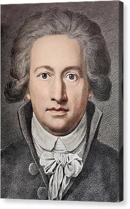 Johann Von Goethe Canvas Print by Paul D Stewart