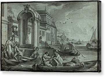 Johann Wolfgang Baumgartner, German 1709-1761 Canvas Print by Litz Collection