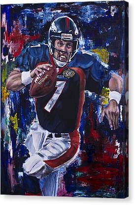 Action Sports Art Canvas Print - John Elway by Mark Courage