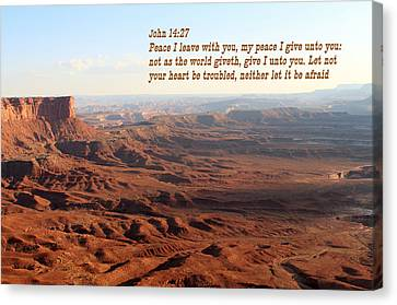 John 14-27 Canyonlands N P Canvas Print