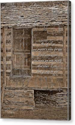 John 14 3 Canvas Print by Michelle Greene Wheeler