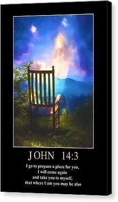 John 14 Canvas Print by John Haldane