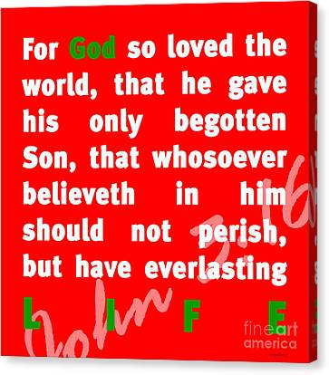 John 3-16 20130215 Canvas Print by Wingsdomain Art and Photography