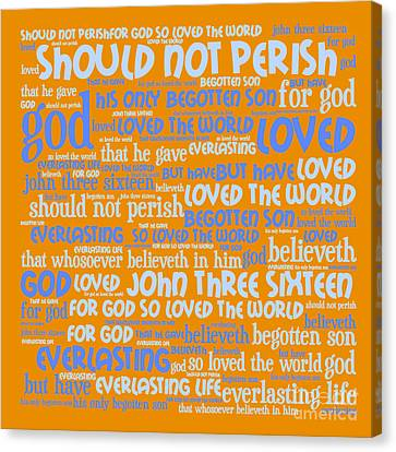John 3-16 20130622p168 Canvas Print by Wingsdomain Art and Photography