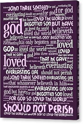 John 3-16 For God So Loved The World 20130622bwma Vertical Canvas Print by Wingsdomain Art and Photography