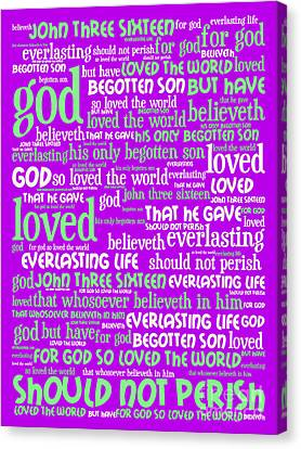 John 3-16 For God So Loved The World 20130622p60 Vertical Canvas Print by Wingsdomain Art and Photography